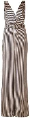 Jonathan Simkhai wrap V-neck striped jumpsuit
