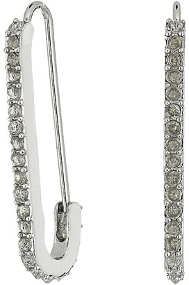 Rebecca Minkoff - Mini Pave Safety Pin Earrings Earring $38 thestylecure.com