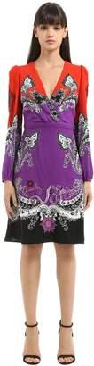 Roberto Cavalli Gradient Printed Cotton Blend Dress