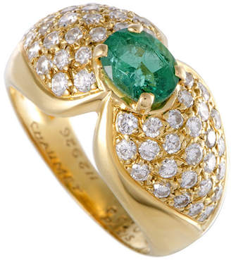 Chaumet Heritage  18K 2.09 Ct. Tw. Diamond & Emerald Ring