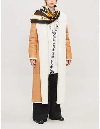 Loewe Shearling wrap coat