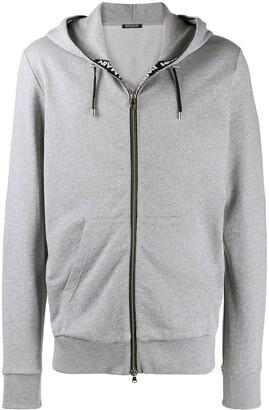 Balmain logo band zipped hoodie
