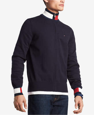 Tommy Hilfiger Men's Complex Front-Zip Sweater, Created for Macy's