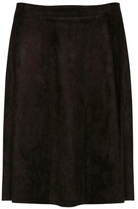B.young B. YOUNG Javannah Faux Suede Flared Midi Skirt