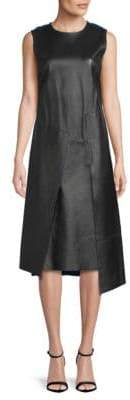 DKNY Sleeveless Leather Dress