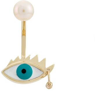 Delfina Delettrez 9kt yellow gold Eye Piercing earring