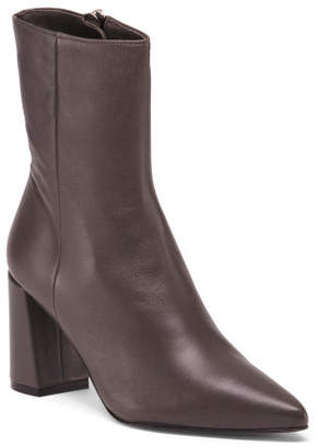 Made In Spain High Heel Leather Boots