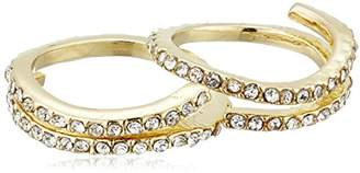 Jessica Simpson Twisted Pave Set Antique Gold Ring