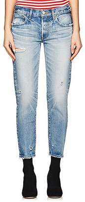 Moussy Women's Kelley Distressed Tapered Jeans