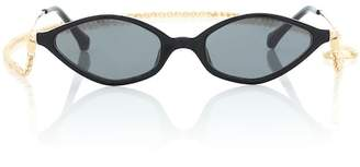Linda Farrow Alessandra Rich x angular sunglasses