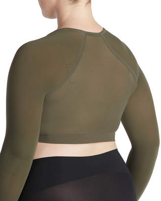 Spanx Arm Tights Solid Shaper Crop Top, Plus Size