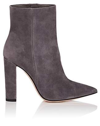 Gianvito Rossi Women's Piper Suede Ankle Boots - Gray