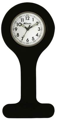 Ravel Black Silicone Nurses Fob Watch R1103.4 (Infection Control)