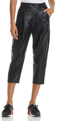 Molly Bracken Faux Leather Track Pants