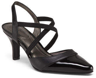 Comfort Pointy Toe Strappy Pumps