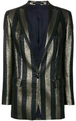 Tagliatore glitter striped blazer