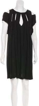 Chloé Cold-Shoulder Mini Dress