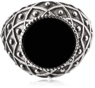 Emanuele Bicocchi Stone Onyx & Silver Ring