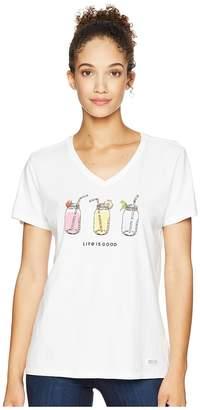 Life is Good Refreshing Jars Crusher Vee Tee Women's T Shirt