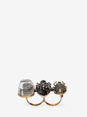 Jeweled Insect Double Ring