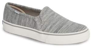 Keds R) Double Decker Twill Stripe Jersey Slip-On Sneaker