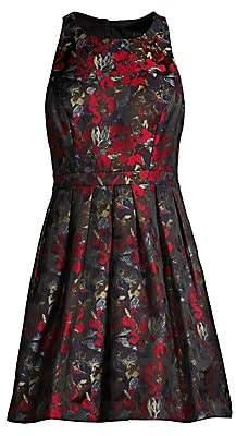 Aidan Mattox Women's Jacquard Floral Flare Dress - Size 0