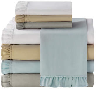 Sanders Ruffle 4 Pc Full Microfiber Sheet Set Bedding