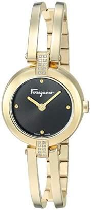 Salvatore Ferragamo Women's 'Ferragamo Miniature' Swiss Quartz Stainless Steel and Gold Casual Watch(Model: FAT080017)