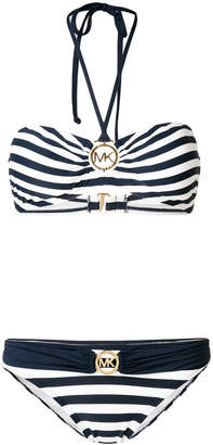 MICHAEL Michael Kors striped bikni set