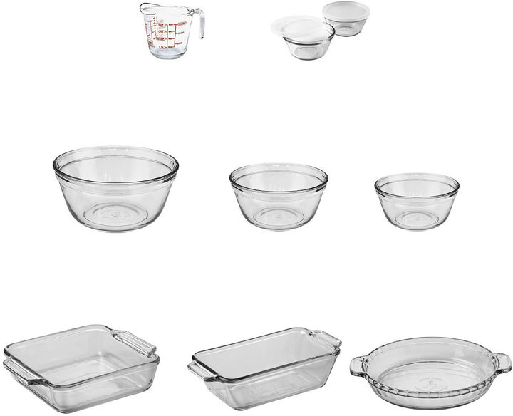 ANCHOR Anchor Hocking CompanyTM 11-pc. Glass Bakeware & Food Prep Set