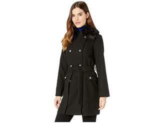 Jessica Simpson Wool Coat w/ Faux Fur Women's Coat