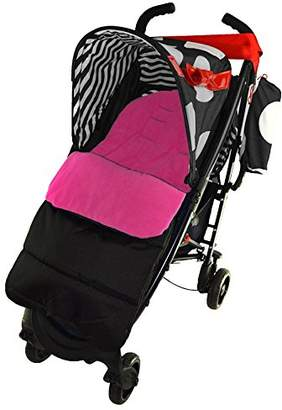 Koochi Footmuff/Cosy Toes Compatible with Pushmatic Pushchair Pink Rose