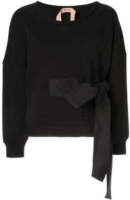 No.21 waist-tied sweater