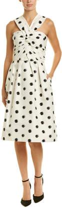 Monique Lhuillier Silk-Lined A-Line Dress