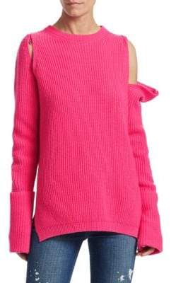 TRE by Natalie Ratabesi Zip-Off Sleeve Cashmere Sweater