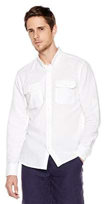 Isle Bay Linens Slim-Fit Long-Sleeve Work Shirt XXL