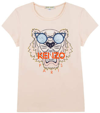 Kenzo Tiger in Sunglasses Graphic T-Shirt, Size 5-6