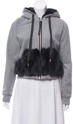 Jocelyn Fur-Trimmed Zip-Up Jacket w/ Tags