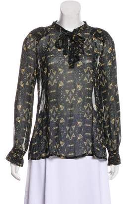 BA&SH Abstract Print Oversize Blouse