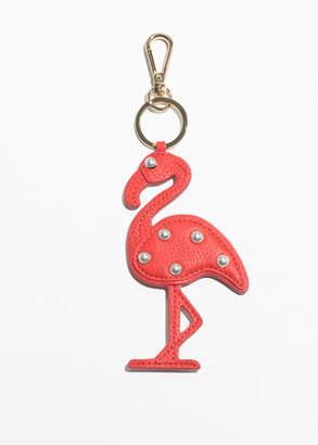 Pearl Bead Flamingo Keyring