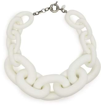 Vanda Jacintho - Chunky Chain Link Necklace - Womens - White