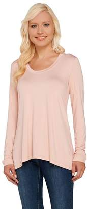 Halston H By H by Essentials Solid Scoop Neck Long Sleeve Knit Top