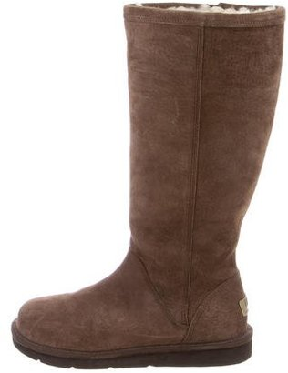UGG Australia Shearling-Lined Suede Boots $125 thestylecure.com