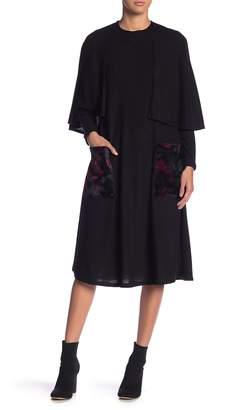 Couture Go Faux Fur Pocket Cape Dress