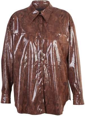 MSGM Brown Oversized Shirt