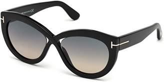 Tom Ford Women's Diane-02 FT0577-01B-56 Oval Sunglasses