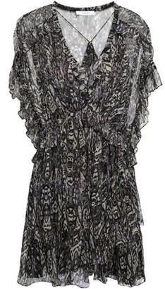 3728590a1834d IRO Gilio Ruffled Printed Georgette Mini Dress