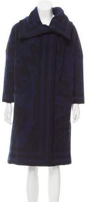 Burberry Printed Wool Coat