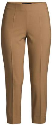 Piazza Sempione Audrey Pinstripe Crop Trousers