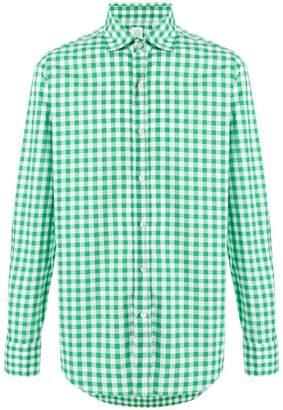 Finamore 1925 Napoli checkered shirt